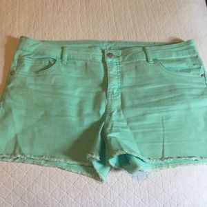 Girls Justice Bright Green Shorts 20 Plus